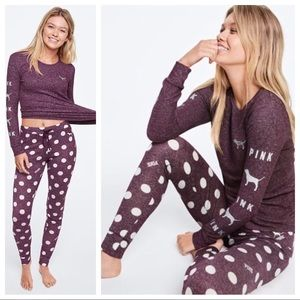 Vs Victorias Secret Pink Cozy Jersey Sleep Set M